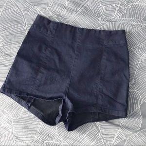 Kimchi Blue Zipper Back Denim Hotpants